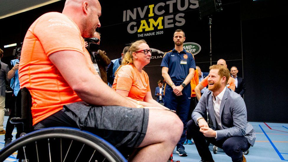Prince Harry at an Invictus Games event