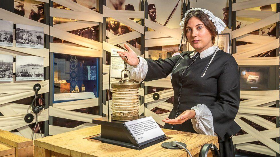 Actor inside Florence Nightingale Museum