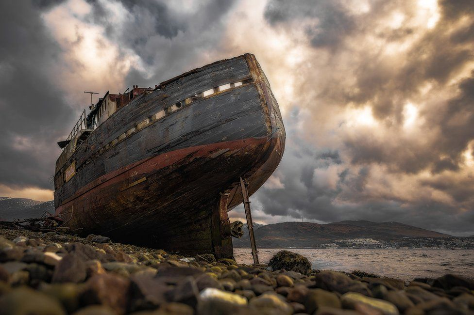 Corpach ship wreck near Fort William