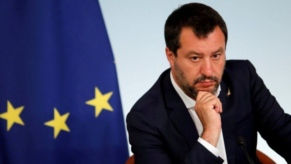 Italian Deputy Prime Minister Matteo Salvini attends a joint news conference following a cabinet meeting in Rom