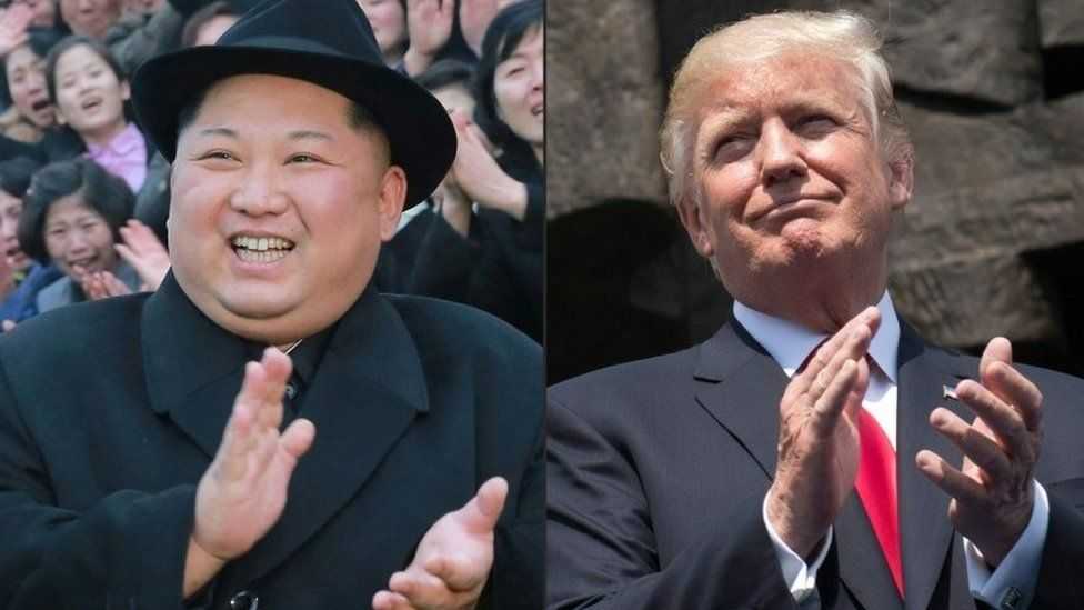 Kim Jong-un and Donald Trump (file images)