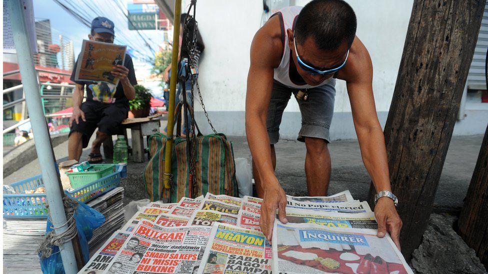 Philippines newspaper vendor