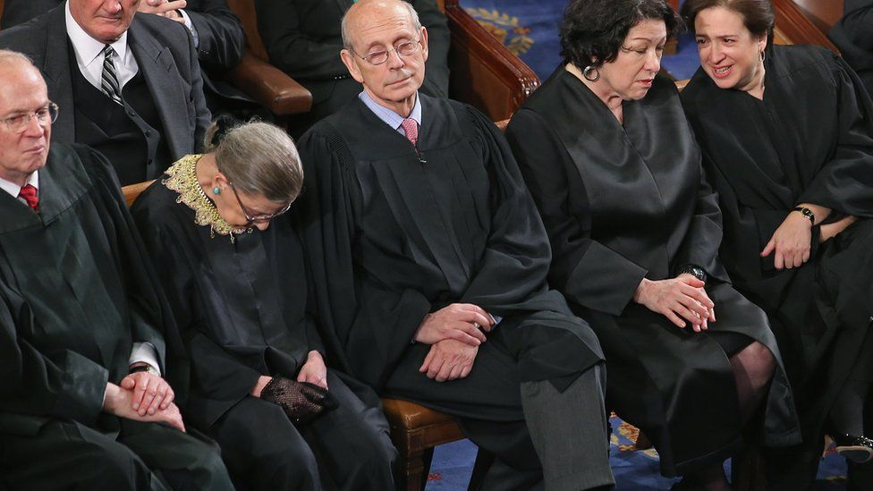 Supreme Court Judge Ruth Bader Ginsburg admitted to falling asleep during Mr Obama's speech