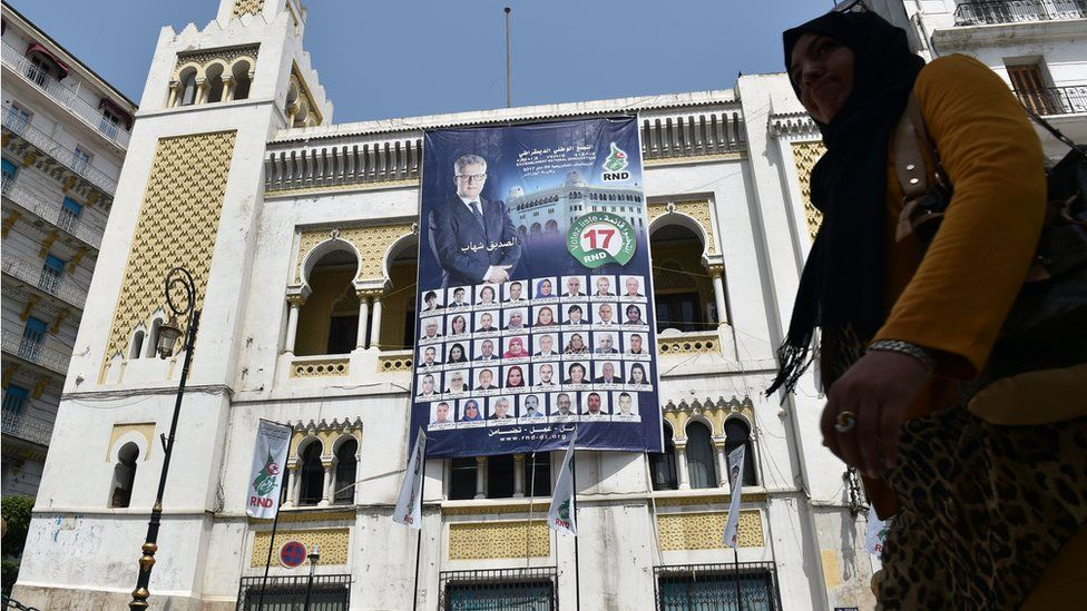 RND party election posters in Algiers