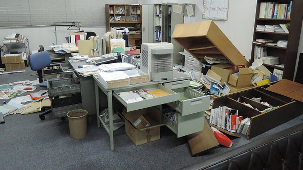 Office after Kumamoto quake