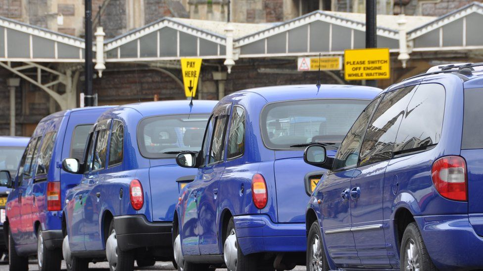 Taxis at Temple Meads station