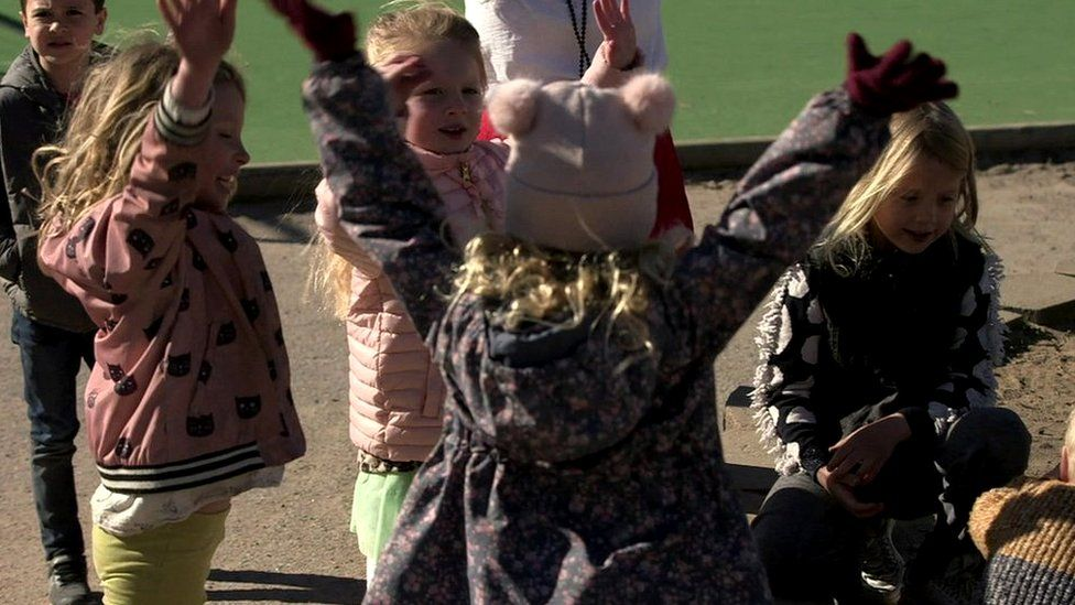 Children in playground in Stockholm