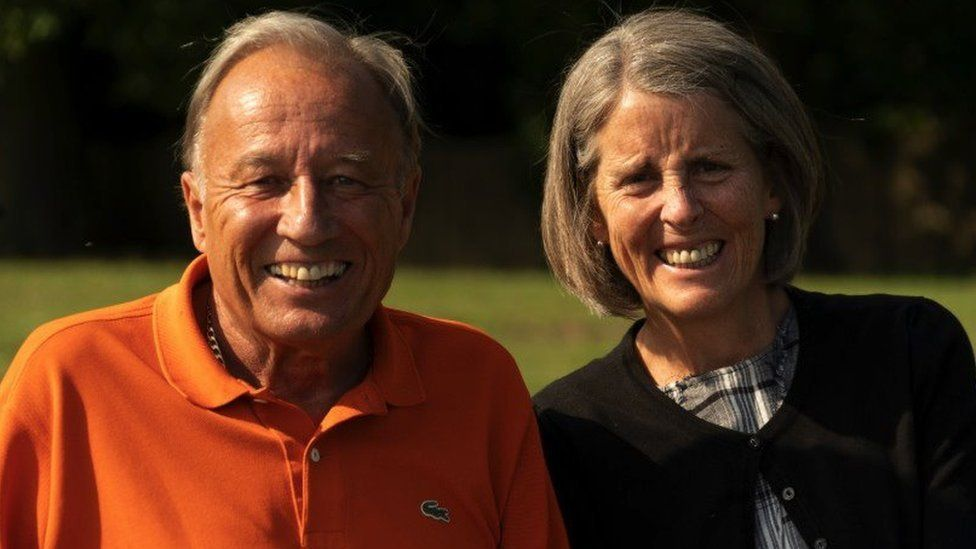 Tony with his wife Deirdre