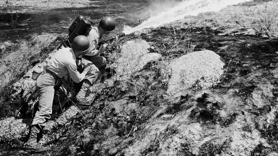 US troops during the Korean war