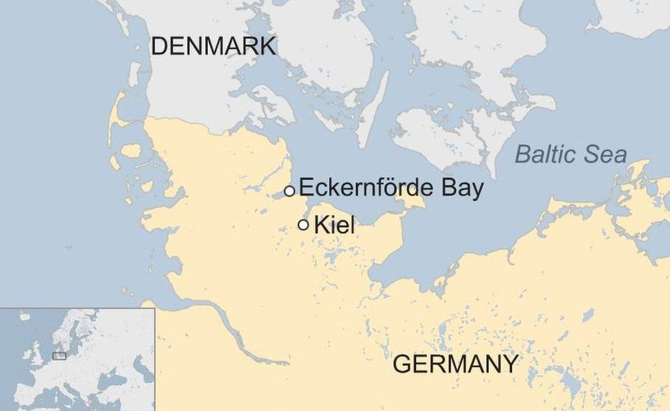 Map Of Germany And Surrounds.Mystery Surrounds Lost German Sea Data Station Bbc News