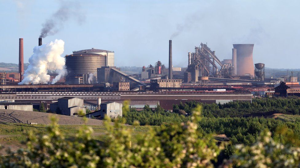 British Steel Scunthorpe site
