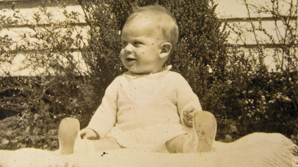 Triplett as a baby