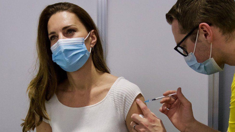 Duchess of Cambridge Gets First Coronavirus Vaccine Shot