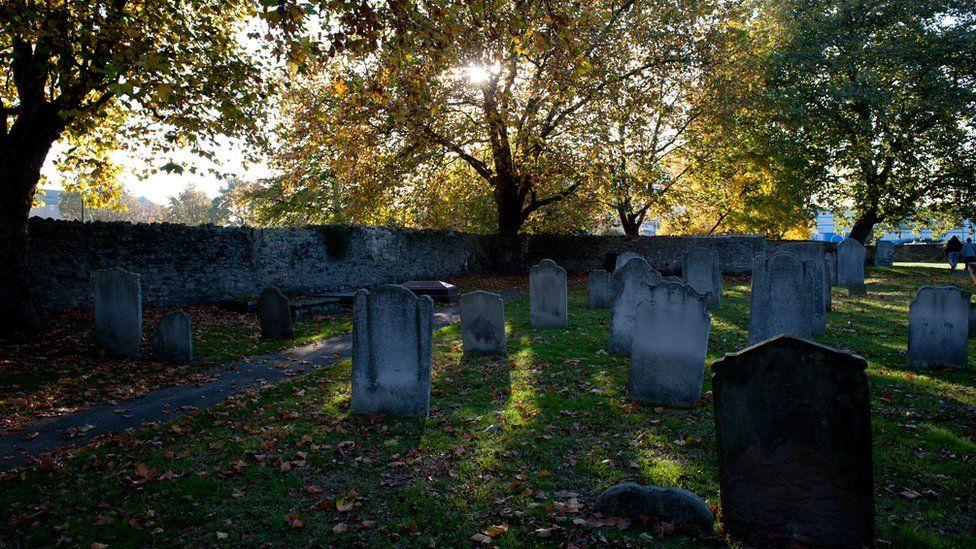 The graveyard of St Margaret's, Barking