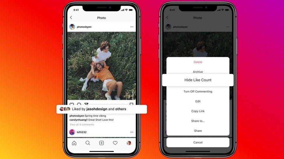 Instagram screenshots of the new tool