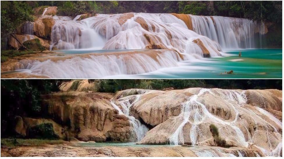 La razón de la repentina desaparición de las icónicas cascadas de Agua Azul en México