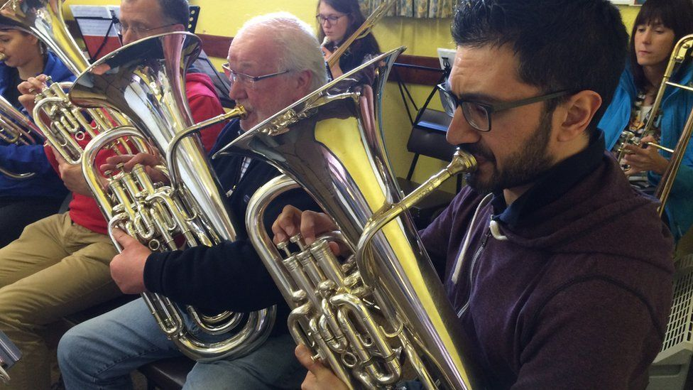 Murley Silver Band rehearsal