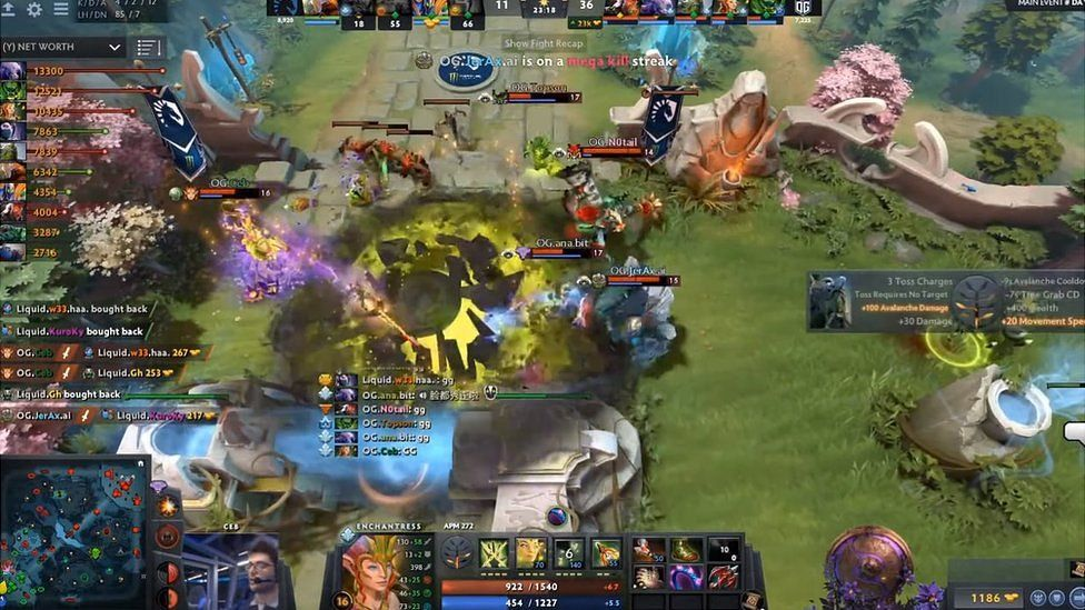 Dota 2 Win Makes N0tail The Top Awarded E Sports Star Bbc News