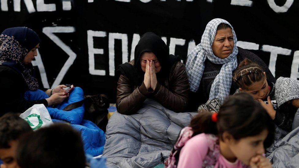 Family members of migrants in Germany protest in Athens
