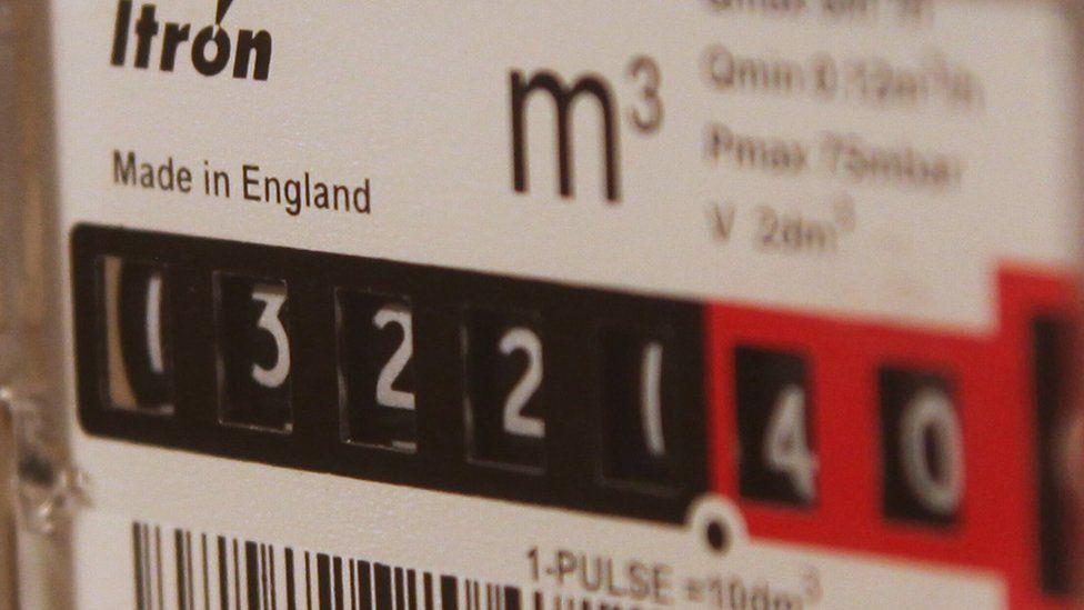 Close up of gas meter