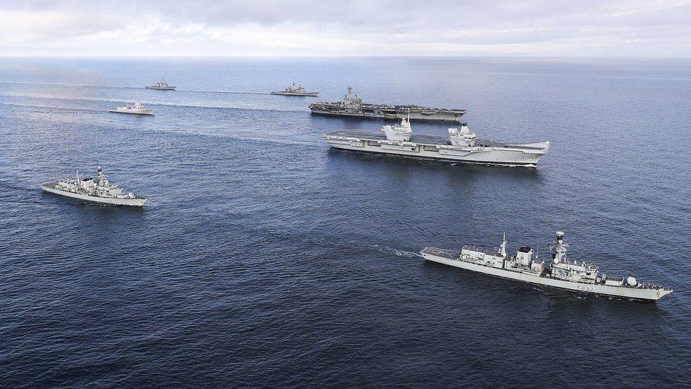 US and Royal Navy ships off Scotland