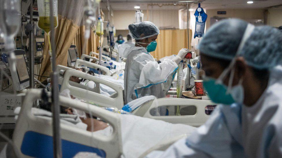 An ICU in capital Delhi