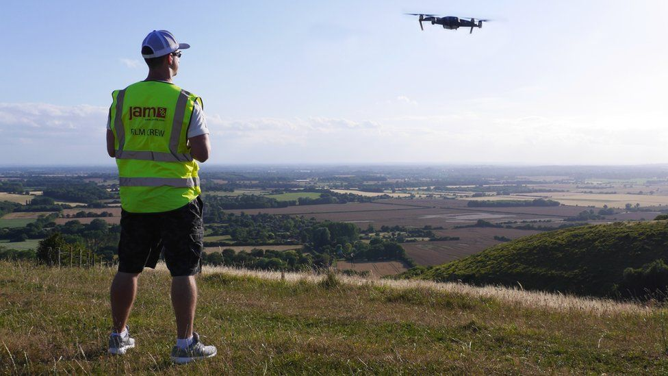 Joby Stephens taking a commercial drone pilot course