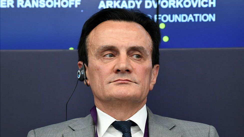 AstraZeneca CEO Pascal Soriot at the 2018 Open Innovations Forum at the Skolkovo Innovations Centre