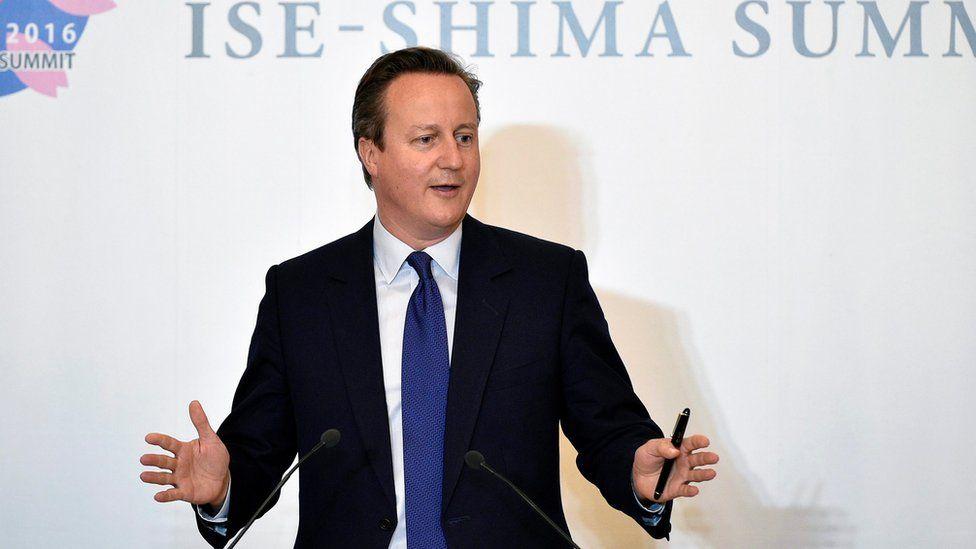 David Cameron at the G7 summit