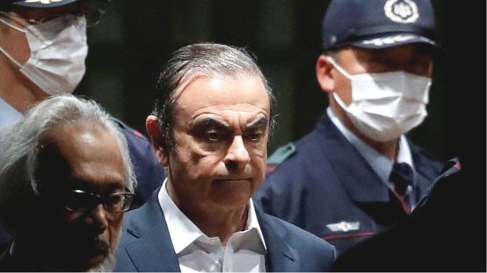 Carlos Ghosn leaving Tokyo Detention House on 25 April 2019