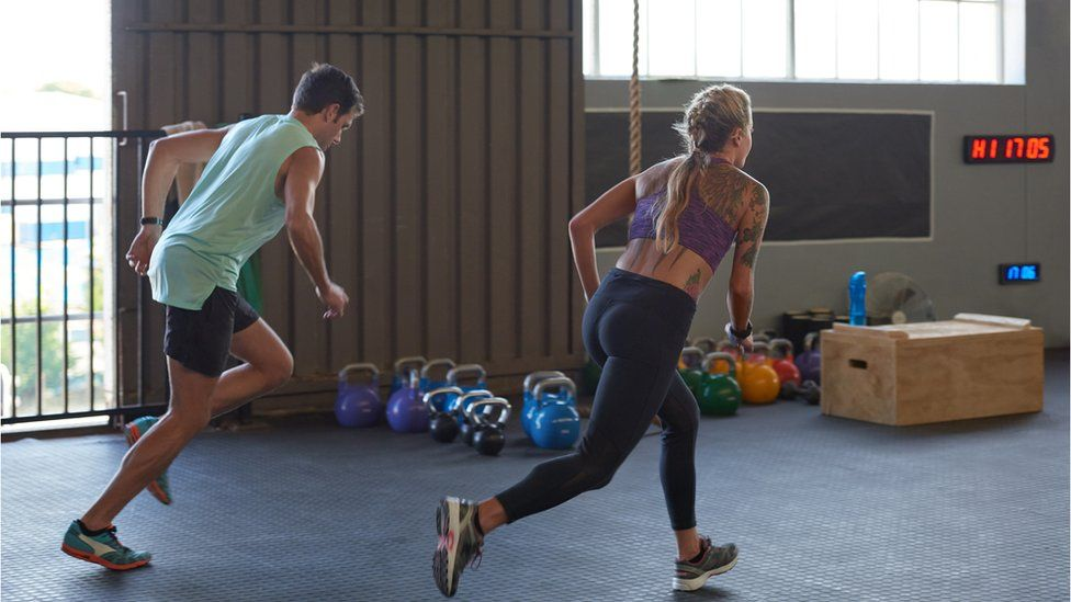 Interval training at the gym