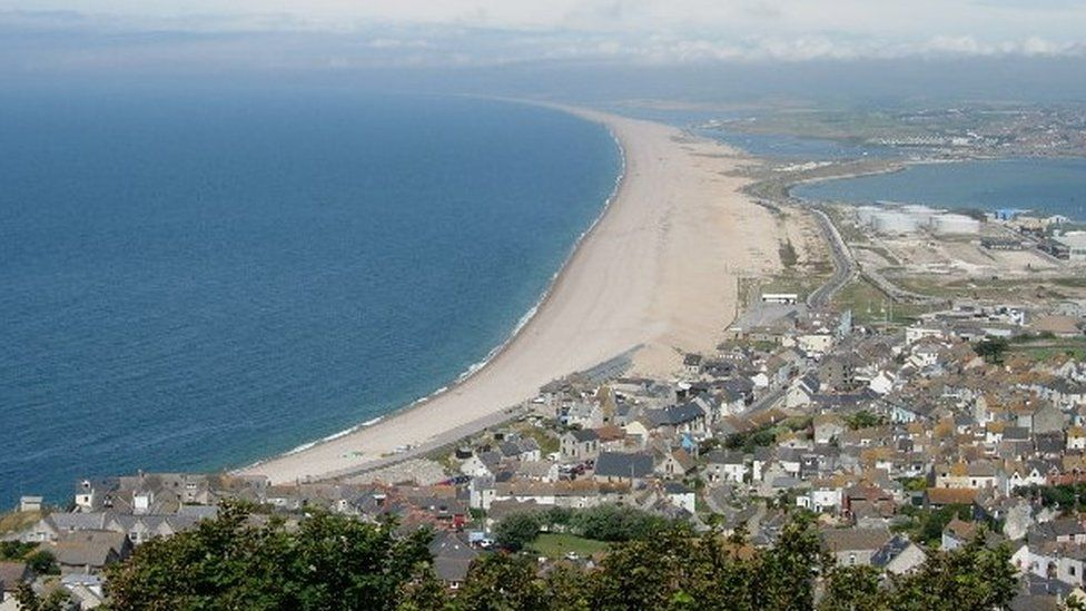 Chesil Beach and Weymouth from Portland