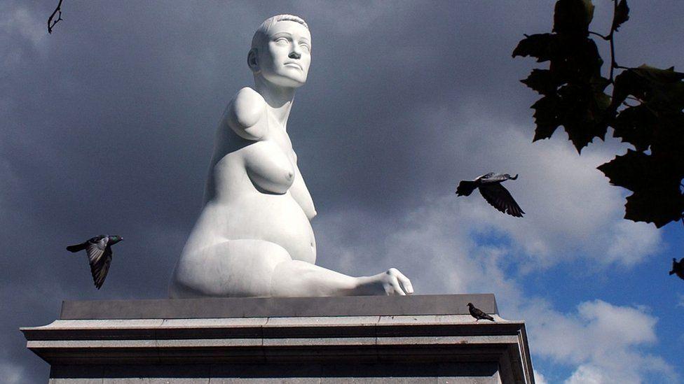 The marble sculpture of Alison Lapper
