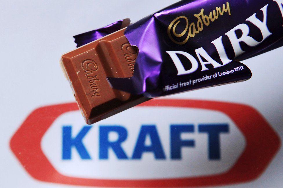 Cadbury Dairy Milk bar and Kraft logo