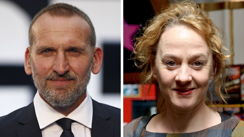 Christopher Eccleston and Niamh Cusack