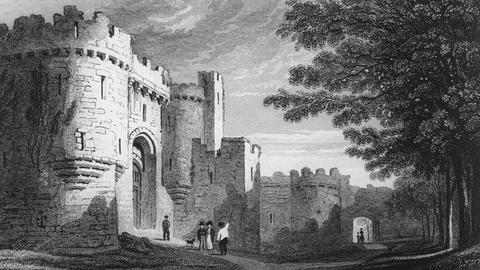 The entrance to Beaumaris Castle, from the mid-18th Century