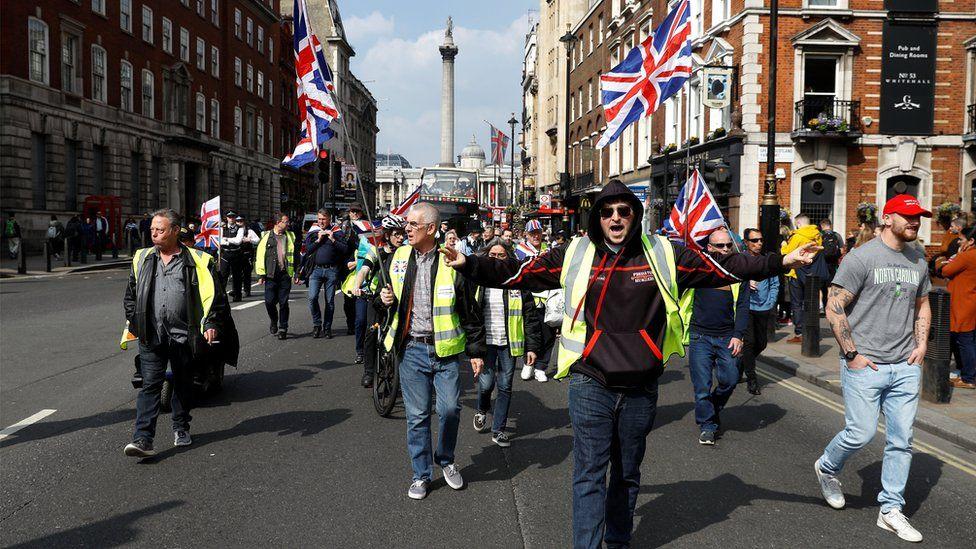 Pro-Brexit protestors in London