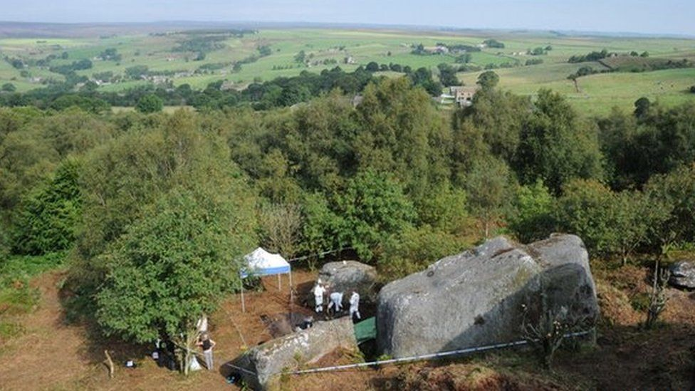 Gemma Simpson's body was buried at Brimham Rocks by Martin Bell