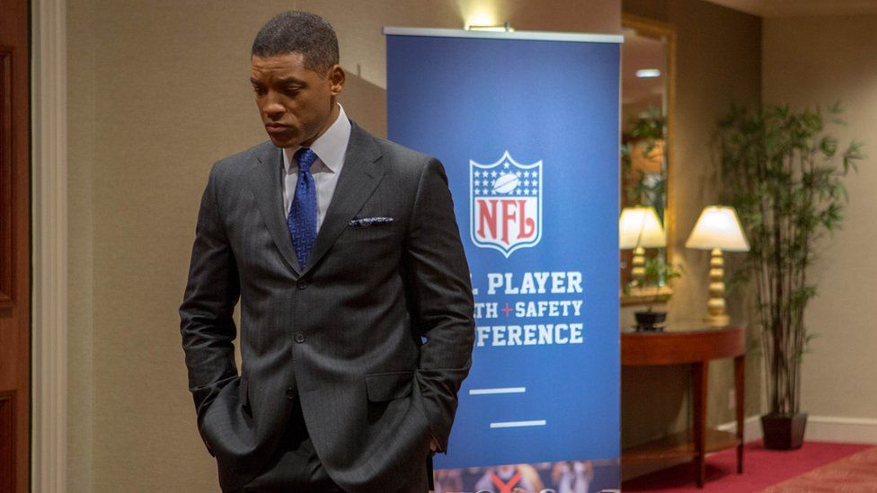 Will Smith as Dr Bennet Omalu in the film Concussion