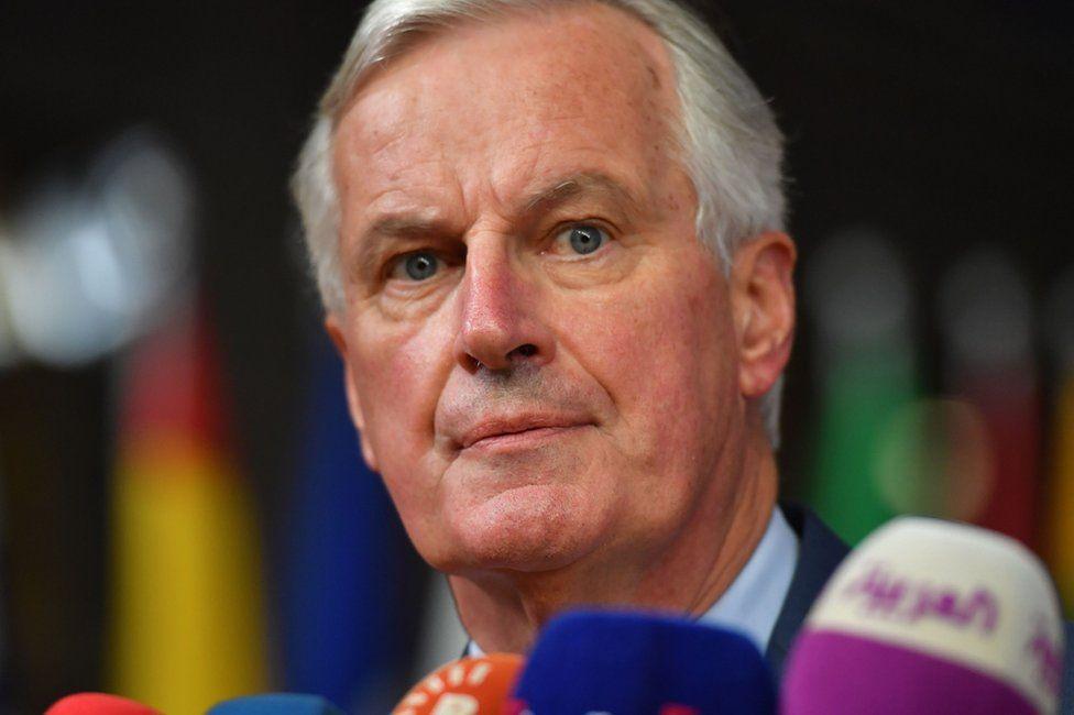 Michel Barnier in Brussels, 17 October