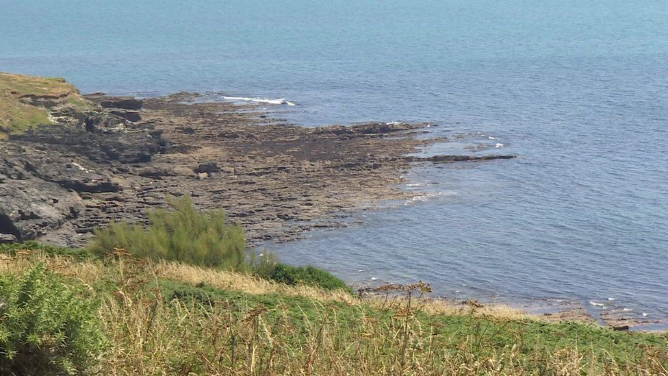 Area near Porthleven where the woman died
