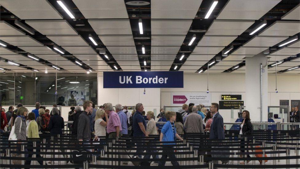 Border Force check passports