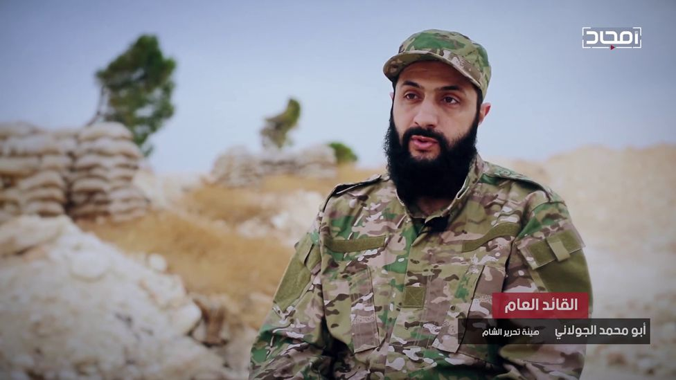 Screengrab from HTS video featuring leader Abu Mohammed al-Jawlani