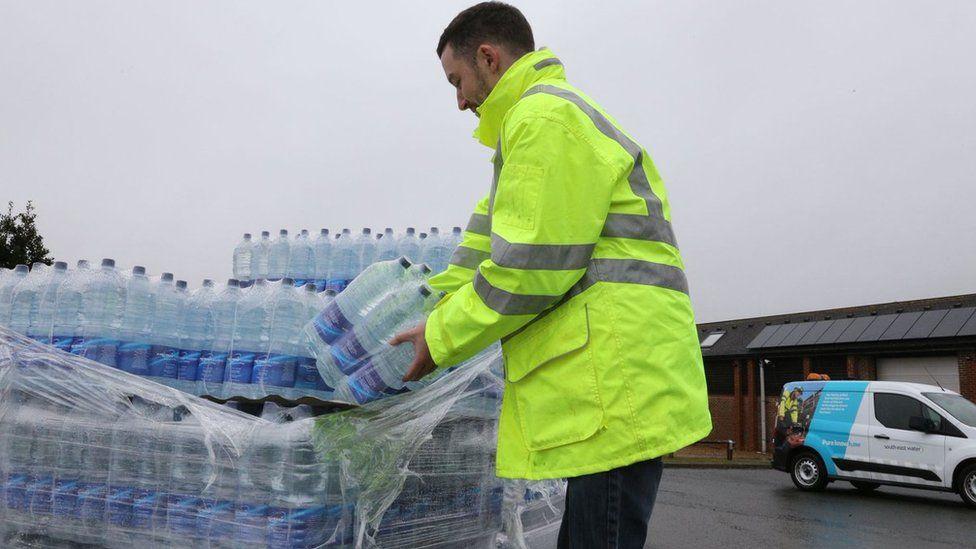 Distributing bottled water
