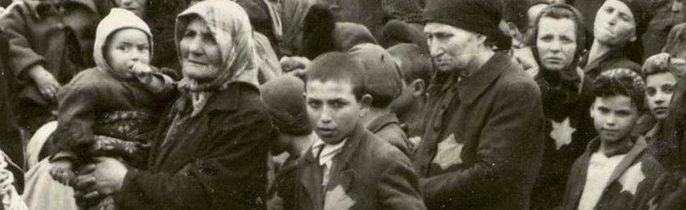 Hungarian Jews arrive in Auschwitz, 1944