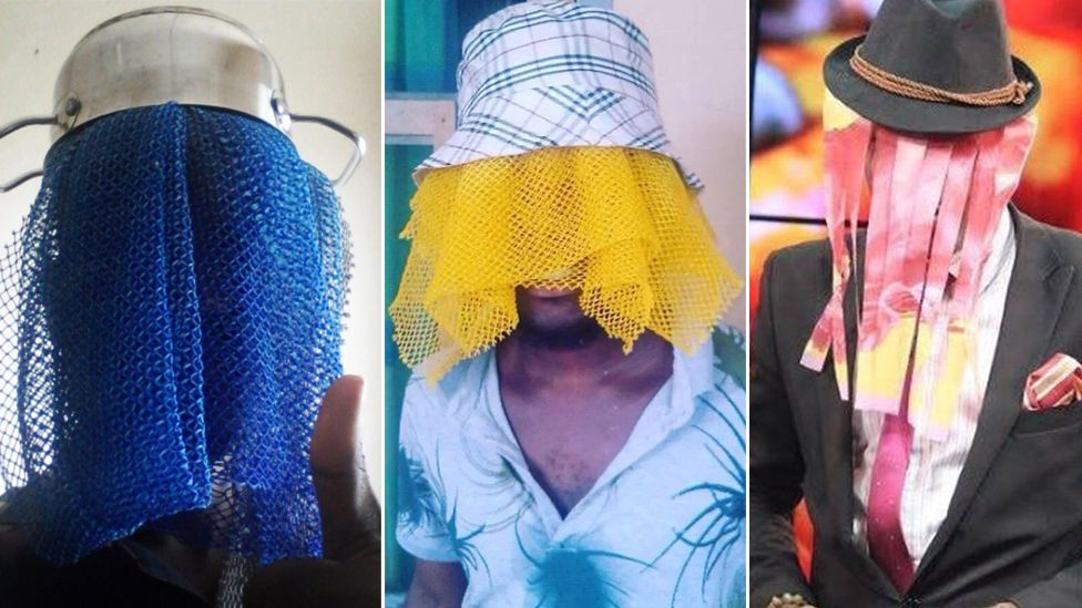 People dressing up as Anas Aremeyaw Anas