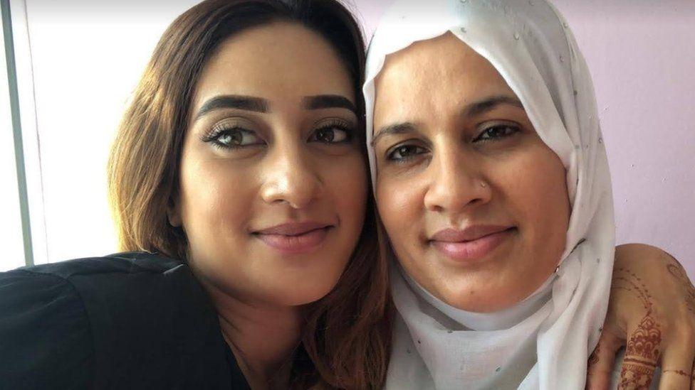 Riya Sajid and her mum Abida Karim