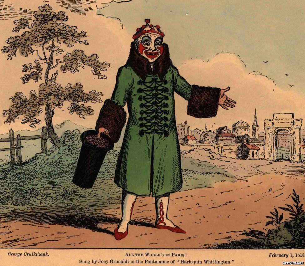 A drawing of Joseph Grimaldi