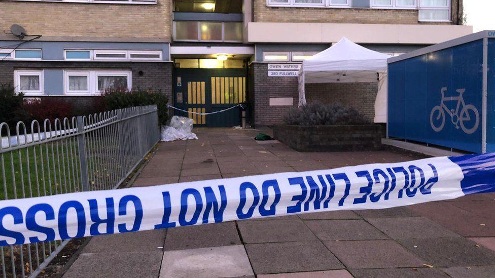 Police crime scene in Ilford
