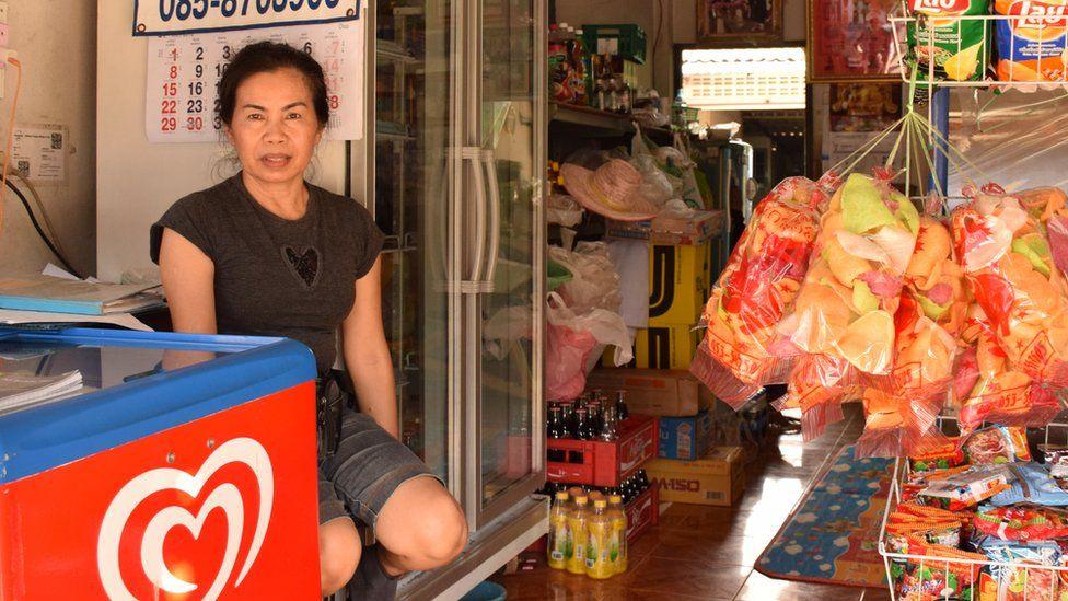 Shopkeeper Patcharee Khumngen